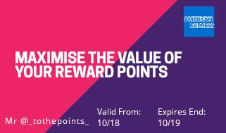 amex maximise reward points travel hack loyalty points budget