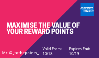 amex maximise reward points travel hack loyalty points budget