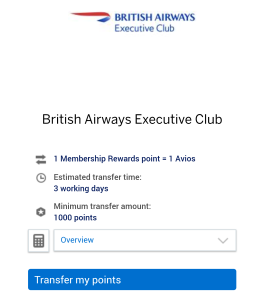 Amex Gold Card Review - Avios