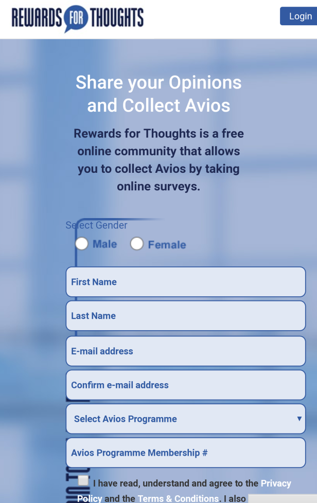 Free Avios Surveys