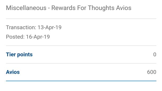 Free Avios Surveys 3
