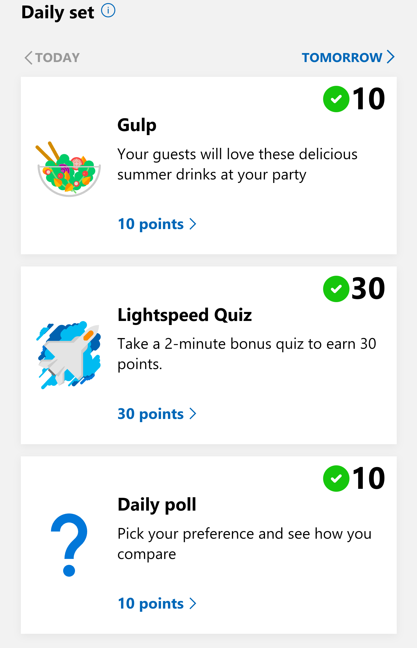 Microsoft Rewards Daily Set